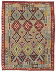 Kelim Afghan Old Style Matto 156X200 Itämainen Käsinkudottu Tummanruskea/Ruskea (Villa, Afganistan)