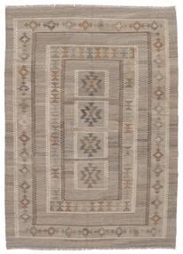 Kelim Afghan Old Style Matto 147X203 Itämainen Käsinkudottu Tummanruskea/Ruskea (Villa, Afganistan)