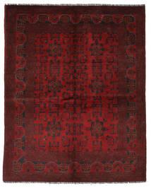 Afghan Khal Mohammadi Matto 151X195 Itämainen Käsinsolmittu Musta/Tummanpunainen (Villa, Afganistan)
