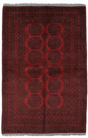 Afghan Matto 156X232 Itämainen Käsinsolmittu Musta (Villa, Afganistan)