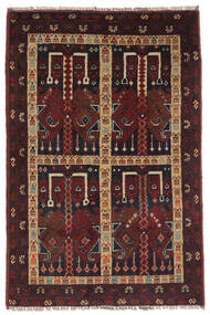 Afghan Khal Mohammadi Matto 77X118 Itämainen Käsinsolmittu Musta/Tummanruskea (Villa, Afganistan)