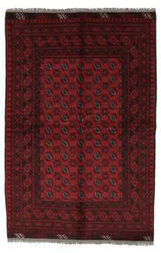 Afghan Matto 156X230 Itämainen Käsinsolmittu Musta/Valkoinen/Creme (Villa, Afganistan)