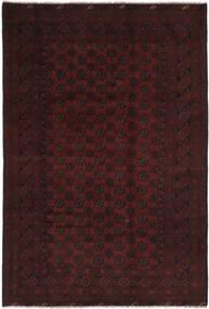 Afghan Matto 194X295 Itämainen Käsinsolmittu Musta (Villa, Afganistan)