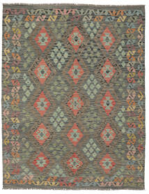 Kelim Afghan Old Style Matto 156X197 Itämainen Käsinkudottu Tummanvihreä/Tummanruskea (Villa, Afganistan)