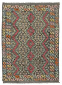 Kelim Afghan Old Style Matto 129X179 Itämainen Käsinkudottu Tummanvihreä/Tummanruskea (Villa, Afganistan)