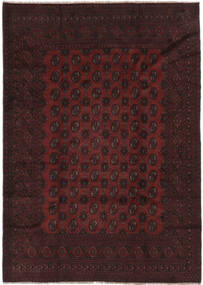 Afghan Matto 198X280 Itämainen Käsinsolmittu Musta (Villa, Afganistan)