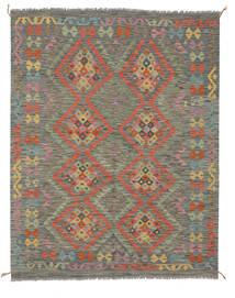 Kelim Afghan Old Style Matto 151X193 Itämainen Käsinkudottu Tummanvihreä/Valkoinen/Creme (Villa, Afganistan)