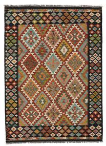 Kelim Afghan Old Style Matto 149X205 Itämainen Käsinkudottu Musta/Tummanruskea (Villa, Afganistan)
