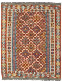 Kelim Afghan Old Style Matto 157X203 Itämainen Käsinkudottu Tummanpunainen/Tummanharmaa (Villa, Afganistan)
