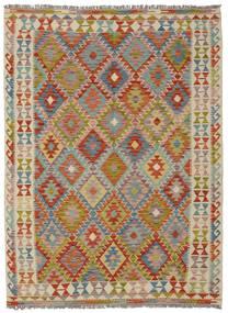 Kelim Afghan Old Style Matto 146X194 Itämainen Käsinkudottu Tummanruskea/Beige (Villa, Afganistan)