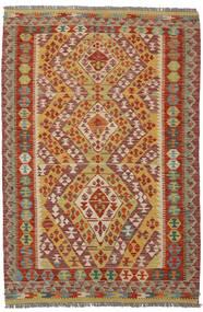 Kelim Afghan Old Style Matto 122X184 Itämainen Käsinkudottu Tummanruskea/Ruskea (Villa, Afganistan)