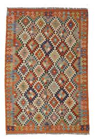 Kelim Afghan Old Style Matto 129X188 Itämainen Käsinkudottu Tummanruskea/Valkoinen/Creme (Villa, Afganistan)