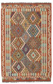 Kelim Afghan Old Style Matto 126X189 Itämainen Käsinkudottu Tummanvihreä/Tummanruskea (Villa, Afganistan)