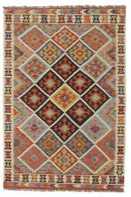 Kelim Afghan Old Style Matto 128X188 Itämainen Käsinkudottu Tummanruskea/Tummanvihreä (Villa, Afganistan)