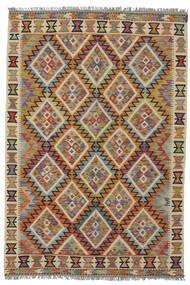 Kelim Afghan Old Style Matto 127X184 Itämainen Käsinkudottu Tummanruskea/Musta (Villa, Afganistan)