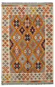 Kelim Afghan Old Style Matto 125X188 Itämainen Käsinkudottu Tummanruskea/Beige (Villa, Afganistan)