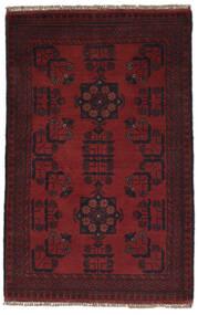Afghan Khal Mohammadi Matto 77X121 Itämainen Käsinsolmittu Musta (Villa, Afganistan)
