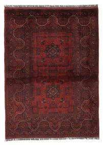Afghan Khal Mohammadi Matto 102X140 Itämainen Käsinsolmittu Musta/Valkoinen/Creme (Villa, Afganistan)