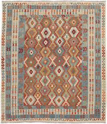 Kelim Afghan Old Style Matto 259X300 Itämainen Käsinkudottu Tummanruskea/Tummanvihreä Isot (Villa, Afganistan)