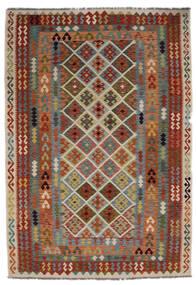 Kelim Afghan Old Style Matto 205X297 Itämainen Käsinkudottu (Villa, Afganistan)