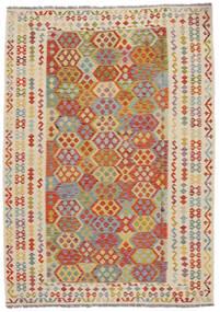 Kelim Afghan Old Style Matto 207X292 Itämainen Käsinkudottu (Villa, Afganistan)