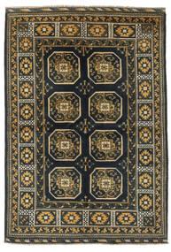 Afghan Matto 163X232 Itämainen Käsinsolmittu Musta/Ruskea (Villa, Afganistan)