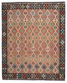 Kelim Afghan Old Style Matto 260X304 Itämainen Käsinkudottu Punainen/Musta Isot (Villa, Afganistan)