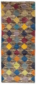 Moroccan Berber - Afghanistan Matto 75X197 Moderni Käsinsolmittu Käytävämatto Tummanruskea/Musta (Villa, Afganistan)