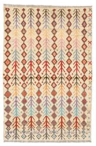 Moroccan Berber - Afghanistan Matto 89X135 Moderni Käsinsolmittu Keltainen/Tummanruskea (Villa, Afganistan)