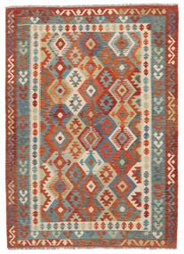 Kelim Afghan Old Style Matto 174X243 Itämainen Käsinkudottu Tummanruskea/Tummanpunainen (Villa, Afganistan)