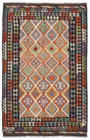 Kelim Afghan Old Style Matto 161X246 Itämainen Käsinkudottu Musta/Punainen (Villa, Afganistan)