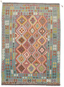 Kelim Afghan Old Style Matto 172X238 Itämainen Käsinkudottu Tummanvihreä/Tummanruskea/Tummanharmaa (Villa, Afganistan)