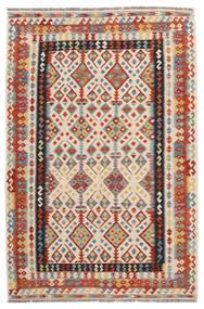 Kelim Afghan Old Style Matto 166X254 Itämainen Käsinkudottu Punainen/Musta (Villa, Afganistan)