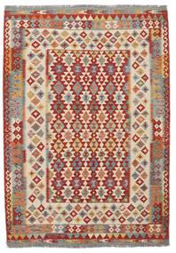 Kelim Afghan Old Style Matto 170X247 Itämainen Käsinkudottu Tummanruskea/Tummanpunainen (Villa, Afganistan)