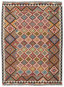 Kelim Afghan Old Style Matto 178X240 Itämainen Käsinkudottu Tummanruskea/Musta (Villa, Afganistan)