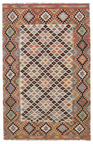 Kelim Afghan Old Style Matto 158X244 Itämainen Käsinkudottu Musta/Tummanruskea (Villa, Afganistan)