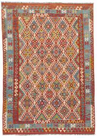 Kelim Afghan Old Style Matto 186X253 Itämainen Käsinkudottu (Villa, Afganistan)