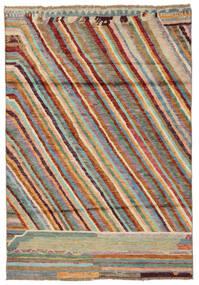Moroccan Berber - Afghanistan Matto 120X174 Moderni Käsinsolmittu Tummanruskea/Tummanvihreä (Villa, Afganistan)