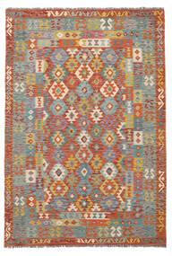 Kelim Afghan Old Style Matto 171X252 Itämainen Käsinkudottu Tummanruskea/Tummanharmaa (Villa, Afganistan)