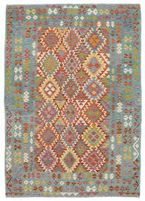 Kelim Afghan Old Style Matto 172X240 Itämainen Käsinkudottu Tummanvihreä/Tummanruskea (Villa, Afganistan)