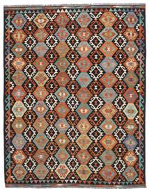 Kelim Afghan Old Style Matto 245X309 Itämainen Käsinkudottu Musta/Tummanruskea (Villa, Afganistan)
