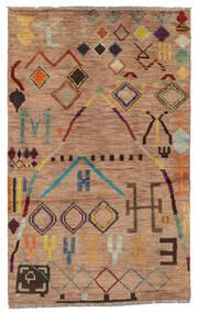 Moroccan Berber - Afghanistan Matto 116X187 Moderni Käsinsolmittu Ruskea/Tummanruskea (Villa, Afganistan)