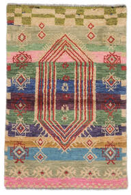 Moroccan Berber - Afghanistan Matto 74X112 Moderni Käsinsolmittu Tummanruskea/Ruskea (Villa, Afganistan)