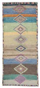 Moroccan Berber - Afghanistan Matto 78X180 Moderni Käsinsolmittu Käytävämatto Oliivinvihreä/Tummansininen (Villa, Afganistan)