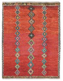Moroccan Berber - Afghanistan Matto 87X111 Moderni Käsinsolmittu Ruoste/Tummanpunainen (Villa, Afganistan)