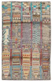 Moroccan Berber - Afghanistan Matto 115X182 Moderni Käsinsolmittu Tummanruskea/Tummanharmaa (Villa, Afganistan)