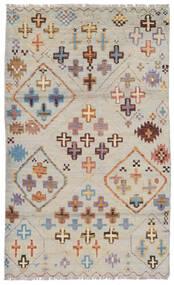 Moroccan Berber - Afghanistan Matto 111X187 Moderni Käsinsolmittu Oliivinvihreä/Vaaleanruskea (Villa, Afganistan)