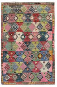 Moroccan Berber - Afghanistan Matto 117X180 Moderni Käsinsolmittu Tummanpunainen/Musta (Villa, Afganistan)