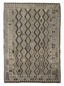 Kelim Afghan Old Style Matto 206X283 Itämainen Käsinkudottu Tummanruskea/Musta (Villa, Afganistan)