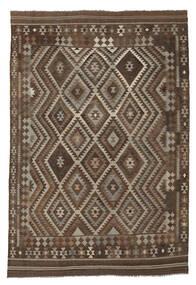 Kelim Afghan Old Style Matto 209X299 Itämainen Käsinkudottu Tummanruskea/Musta (Villa, Afganistan)